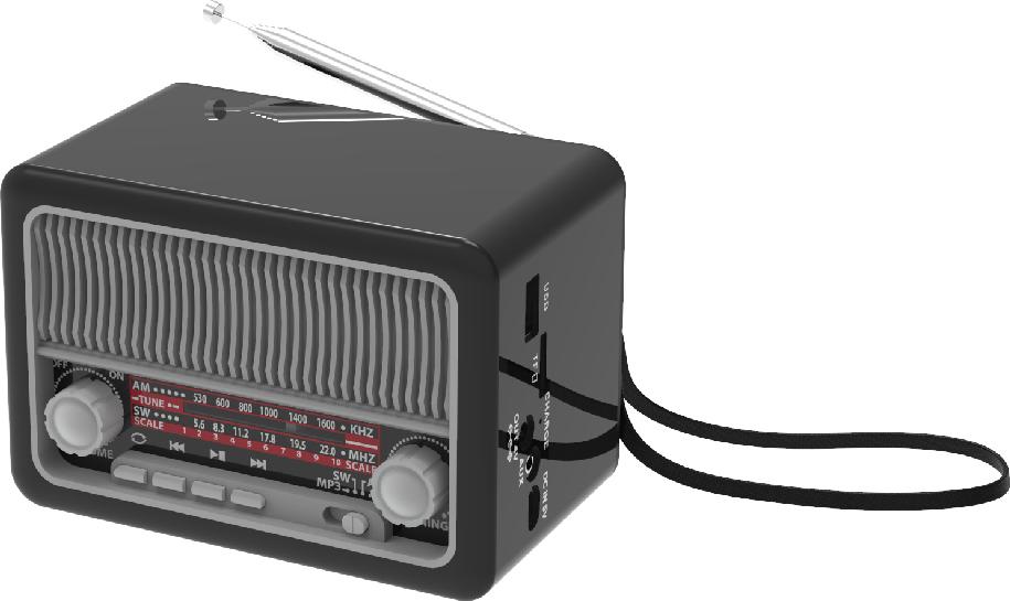 Радиоприемник Ritmix RPR-035, серебристый