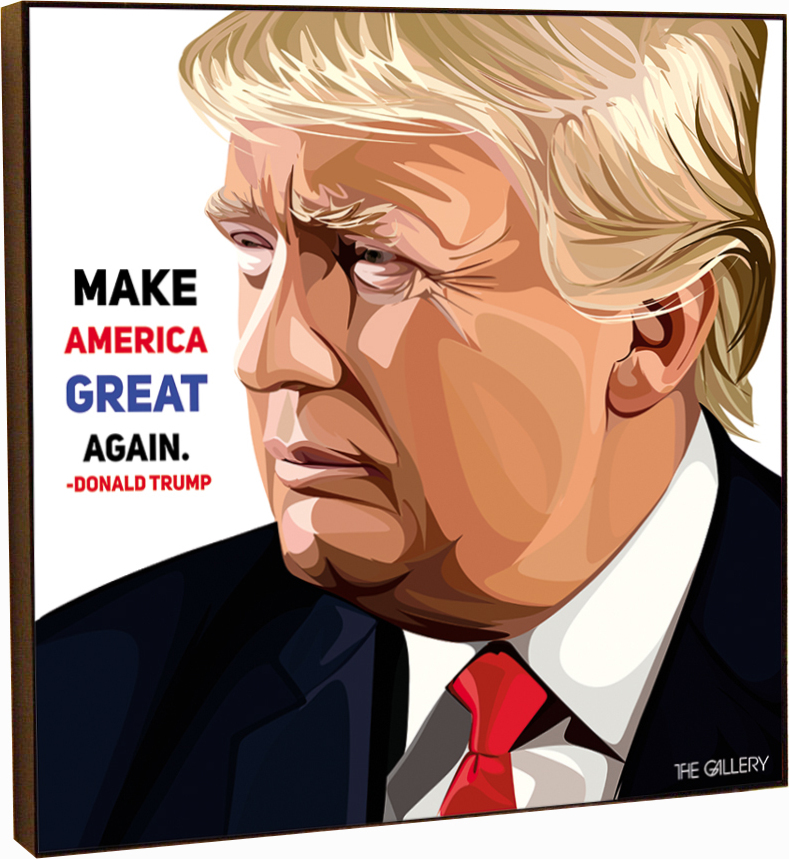 Картина постер Дональд Трамп в стиле поп-арт 25 х см