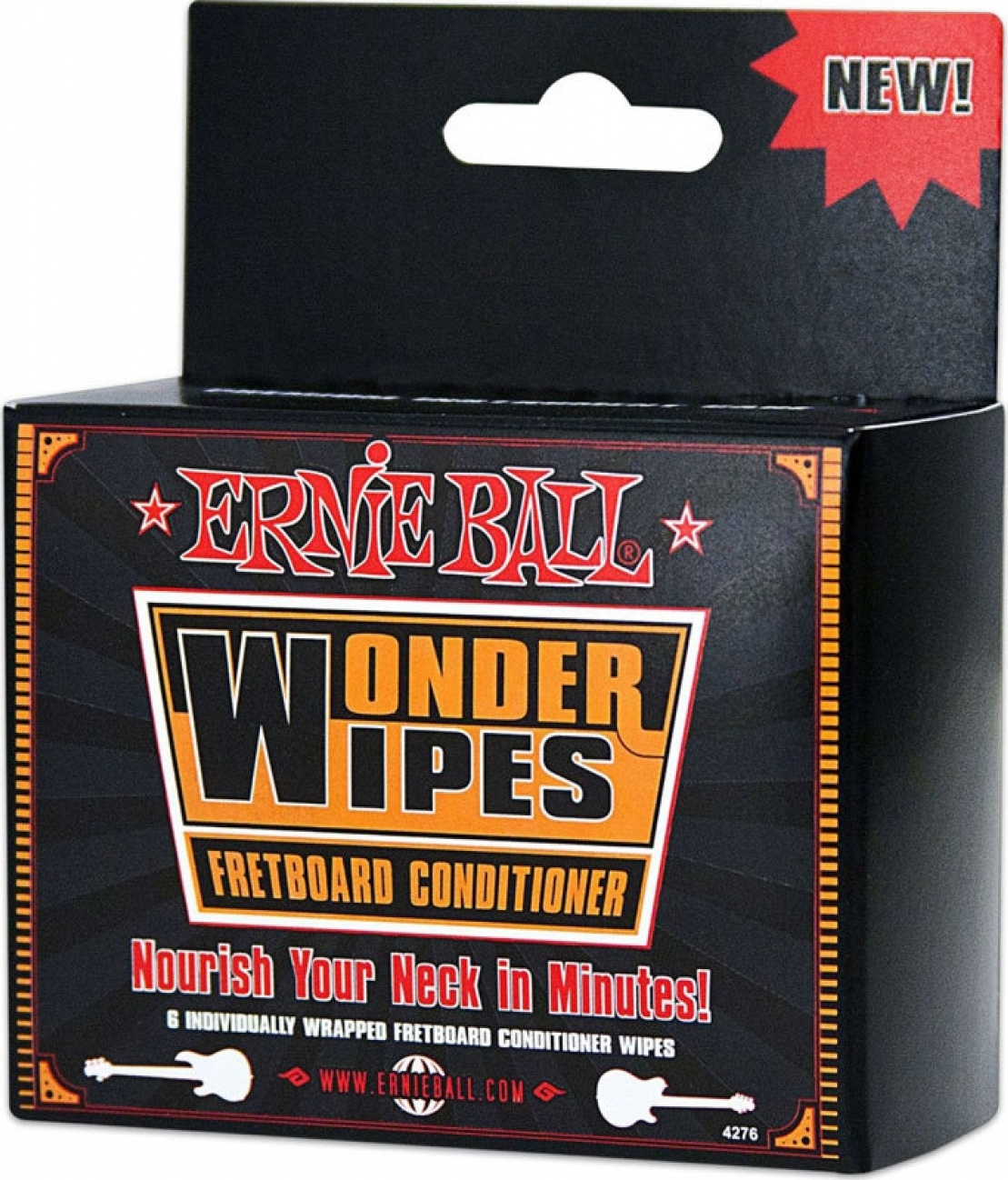 Средство для чистки грифа (салфетки) Ernie Ball 4276 педаль эффектов ernie ball 250k mono volume pedal