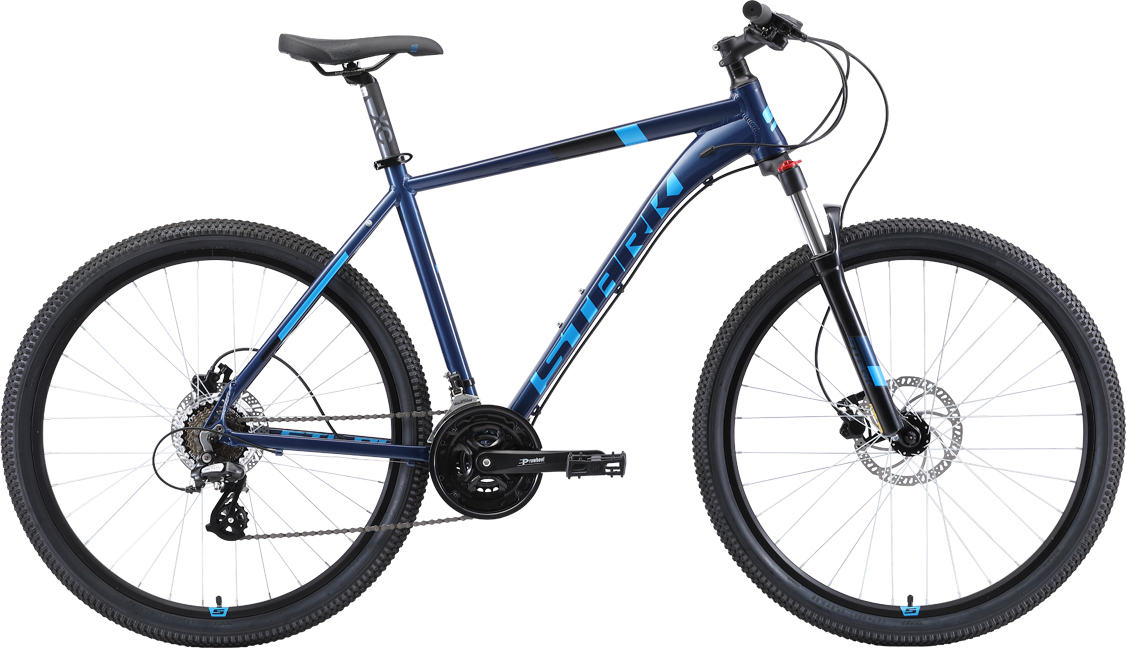 Велосипед STARK Router 27.3 HD 2019 20 голубой/чёрный