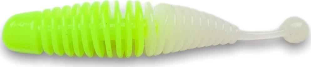 Приманка SOOREX Larva 65mm 218 (Шартрез/Голубое свечение) Сыр 8шт.