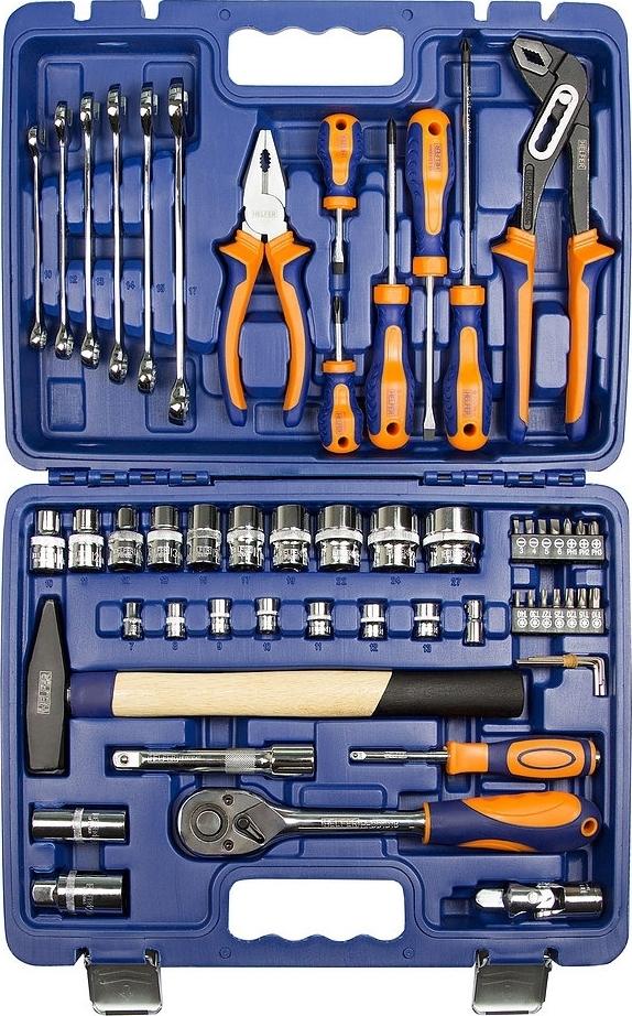 цена на Набор ручного инструмента Helfer HF000013 (56 предметов)