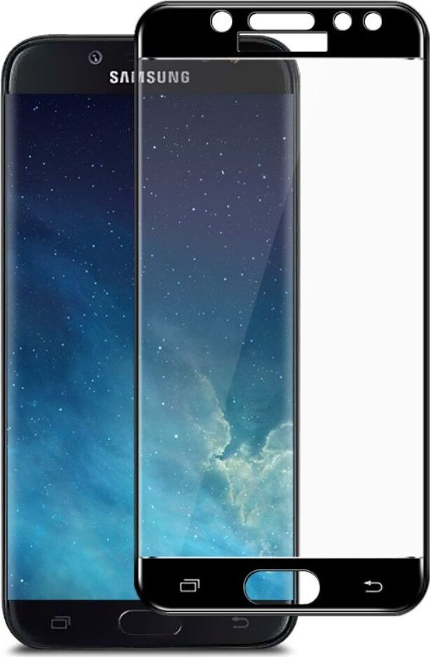 Полноприклеивающееся защитное стекло для Samsung Galaxy J7 2017 Черный