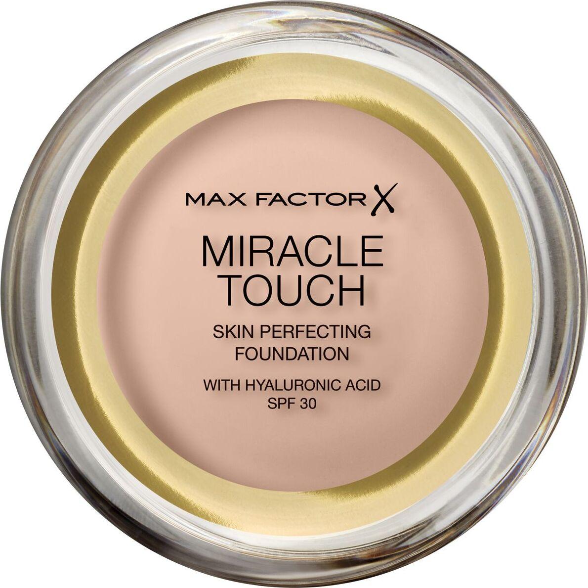 Тональная основа Max Factor Miracle Touch, SPF 30, тон 38 Light Ivory, 11 мл основа под макияж max factor miracle prep colour correcting cooling тон green 30 мл