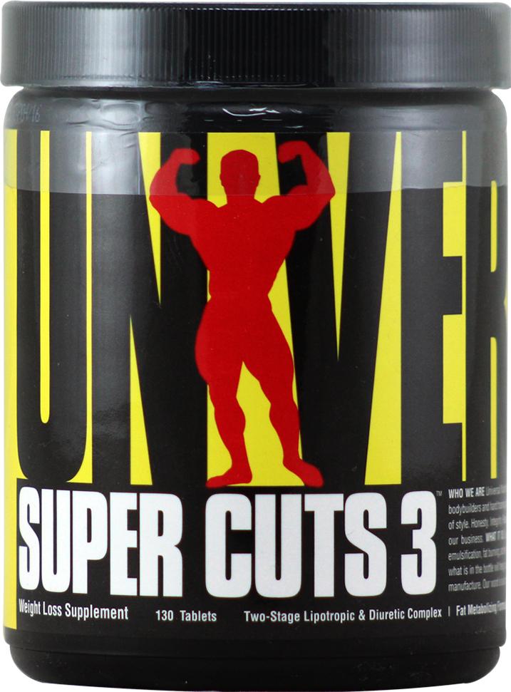 Жиросжигатель Universal Nutrition Super Cuts 3, 130 таблеток