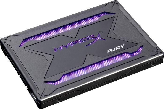 Твердотельный накопитель 480Gb SSD Kingston HyperX Fury RGB, SHFR200B/480G накопитель ssd kingston hyperx fury 120gb sata3 shfs37a 120g shfs37a 120g