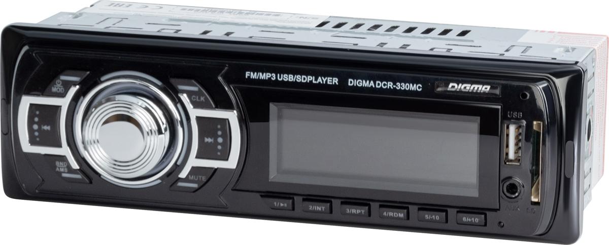 Автомагнитола Digma DCR-330MC автомагнитола е96