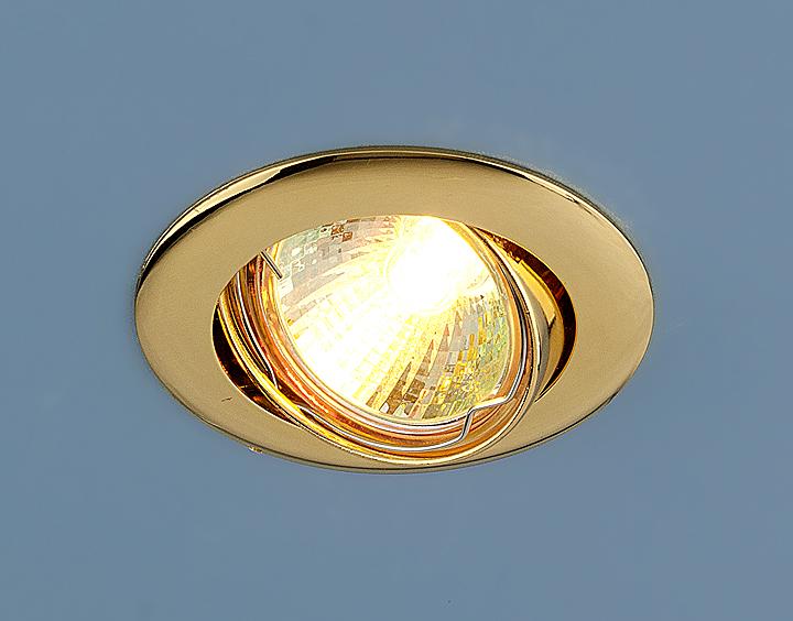 Встраиваемый светильник Elektrostandard Точечный 104S MR16 GD, G5.3 светильник встраиваемый escada milano gu5 3 001 gd