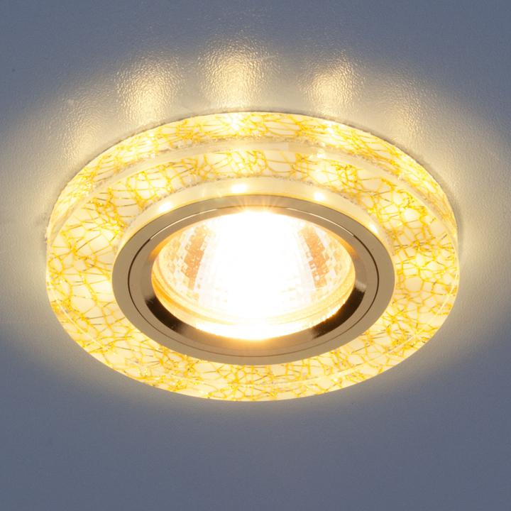 Встраиваемый светильник Elektrostandard Точечный светодиодный 8371 MR16 WH/GD, G5.3 встраиваемый светильник elektrostandard 7002 mr16 wh gd белый золото 4690389082528