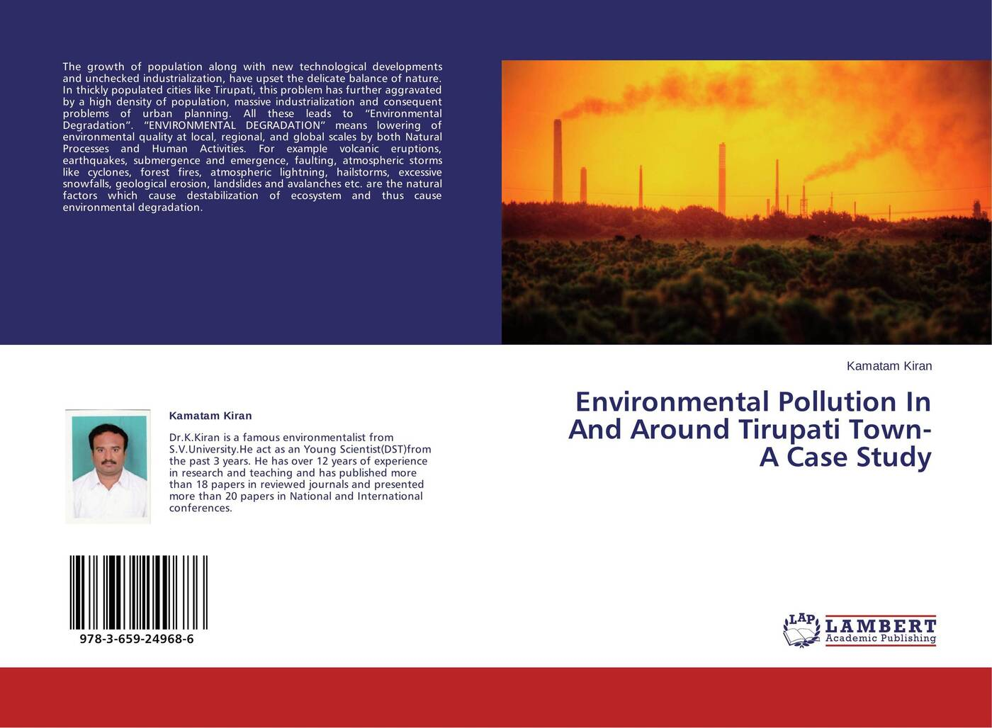 Kamatam Kiran Environmental Pollution In And Around Tirupati Town- A Case Study gary grant ecosystem services come to town greening cities by working with nature