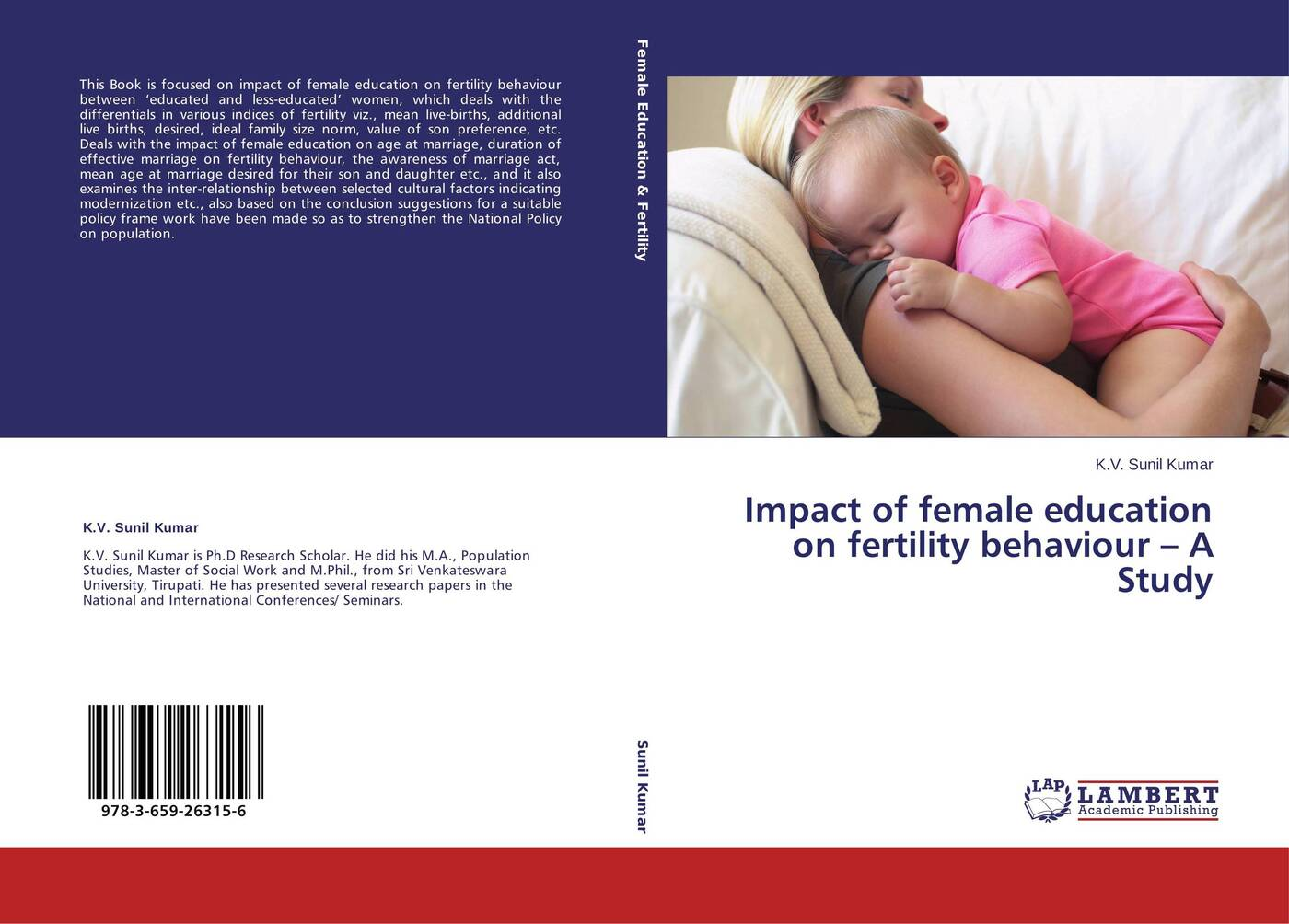 цены K.V. Sunil Kumar Impact of female education on fertility behaviour - A Study