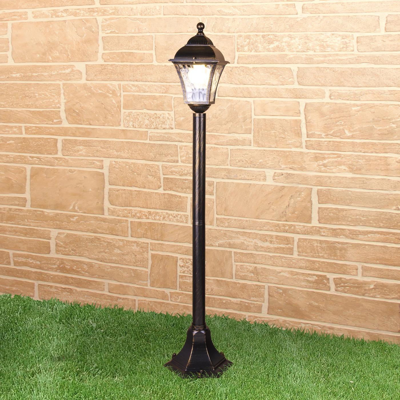 Садовое освещение Elektrostandard a043117, E27 садово парковый светильник elektrostandard virgo f 2 черное золото 4690389064883