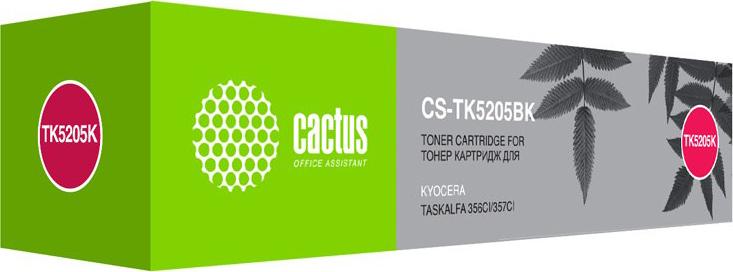 Тонер-картридж Cactus CS-TK5205BK, черный, для лазерного принтера
