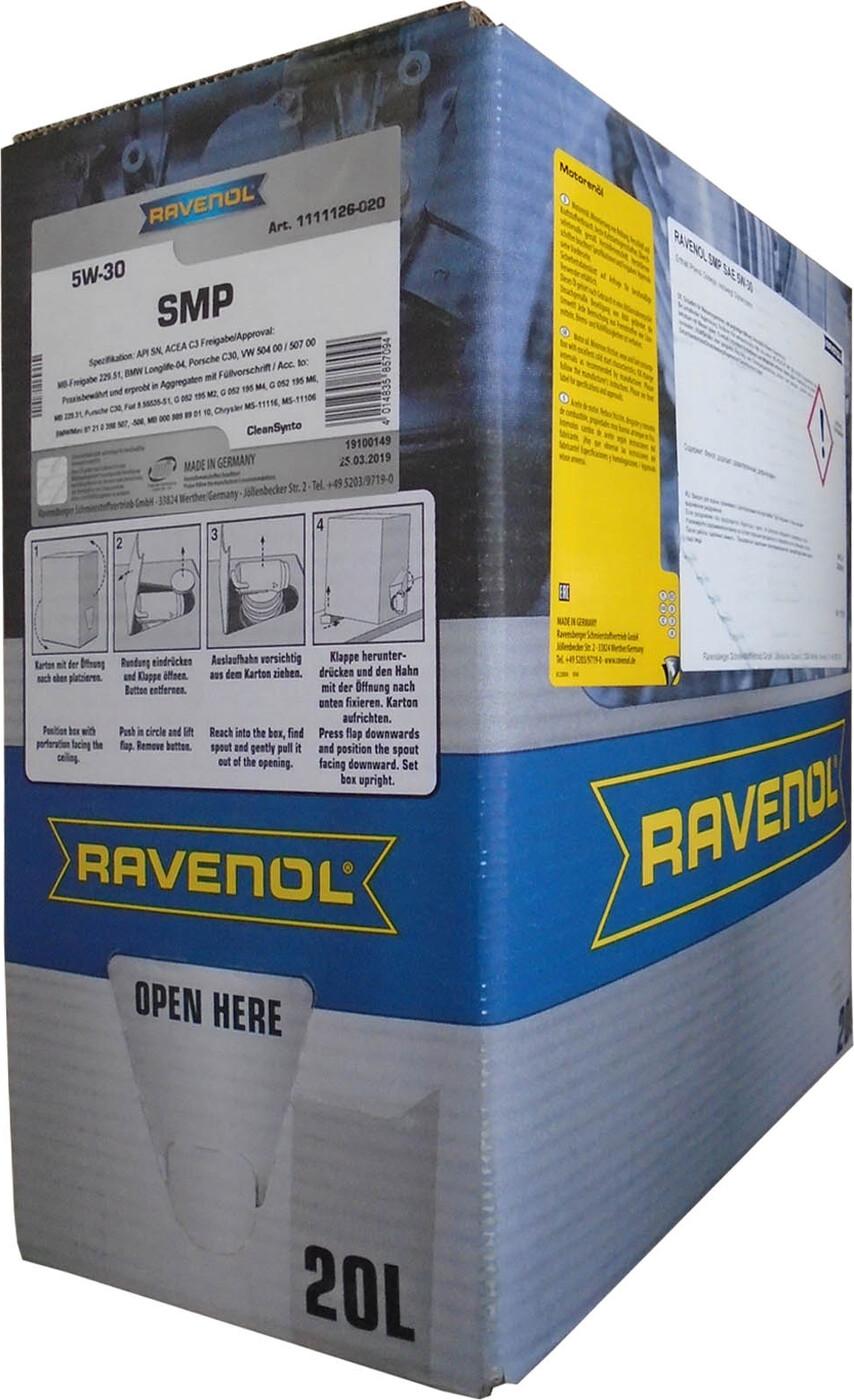 Моторное масло RAVENOL SMP SAE 5W-30 (20л) ecobox18