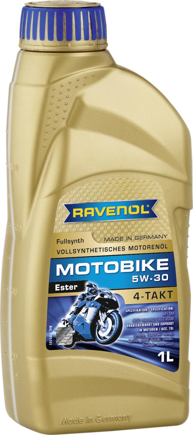 Моторное масло RAVENOL Motobike 4-T Ester SAE 5W-30 (1л)