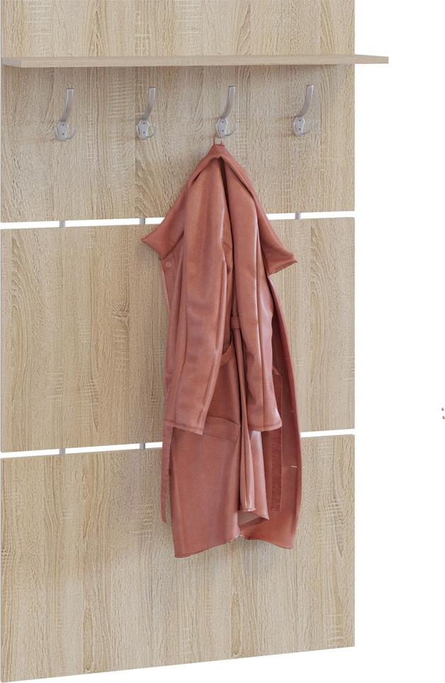 Сокол ВШ-3.1 вешалка, цвет дуб сонома, ШхГхВ 90х21х146 см.