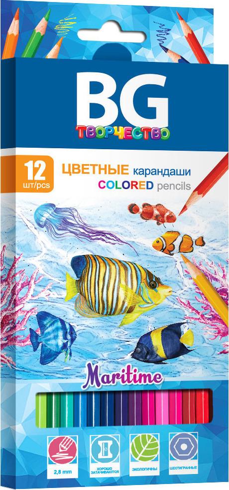 Карандаши цветные BG