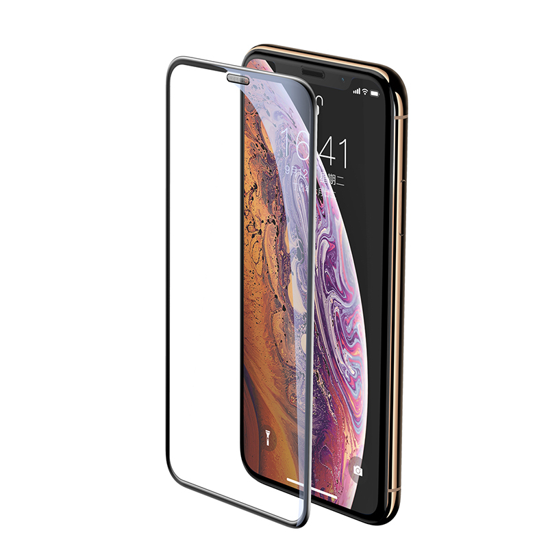 Защитное стекло Baseus 0.3 Full-screen Curved Tempered Glass Screen Protector Cellular Dust Prevention для Apple iPhone XS Max 6.5 Black