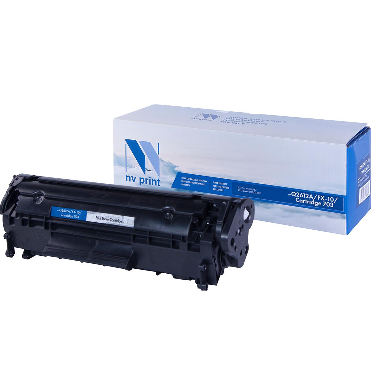 Тонер-картридж NV Print NV-Q2612A/NV-FX-10/703, черный, для лазерного принтера, совместимый