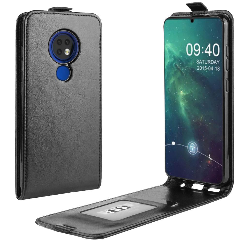 Чехол-флип MyPads для Nokia 7.2/ Nokia 6.2 вертикальный откидной черный