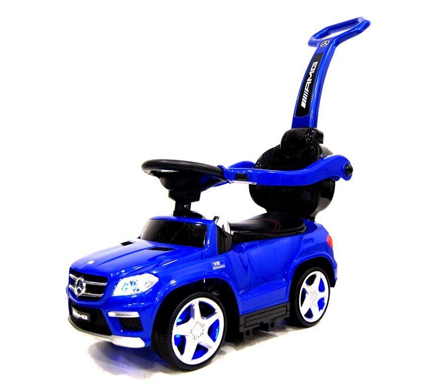 Каталка (с ручкой) RiverToys Mercedes-Benz A888AA-H со звуковыми эффектами синий