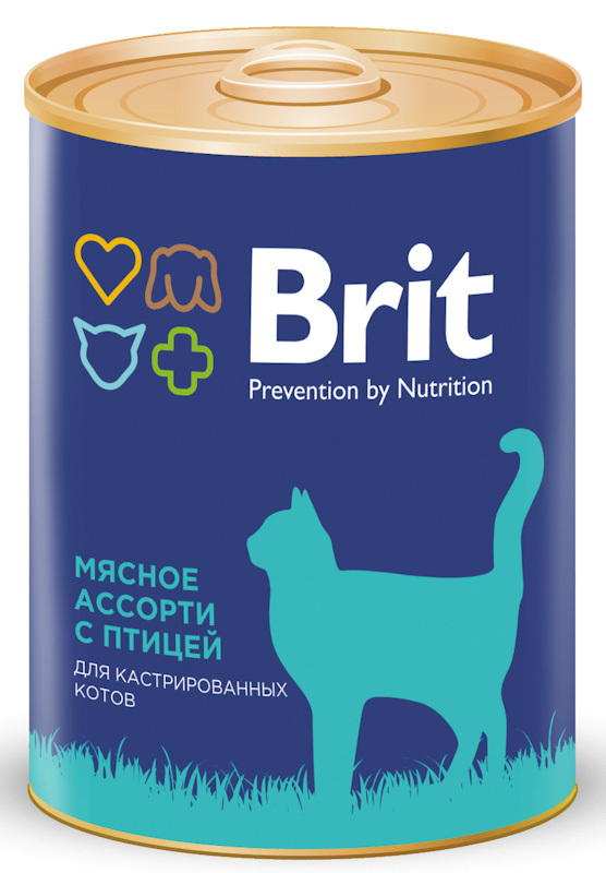 Консервы Brit Premium BEEF AND CHICKEN MEDLEY для стерилизованных кошек Мясное ассорти с птицей, 340 г