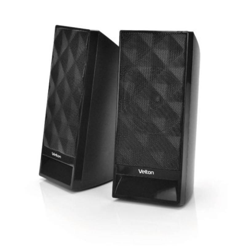 Активная акустическая система VELTON 2.0 VLT-SP106UBl питание USB, чёрные.