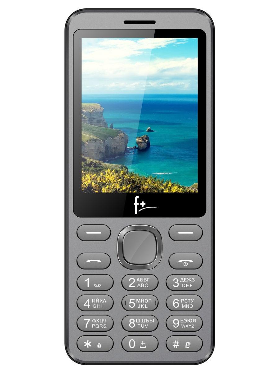 мобильный телефон f+ s2865 silver (s2865), темно-серый