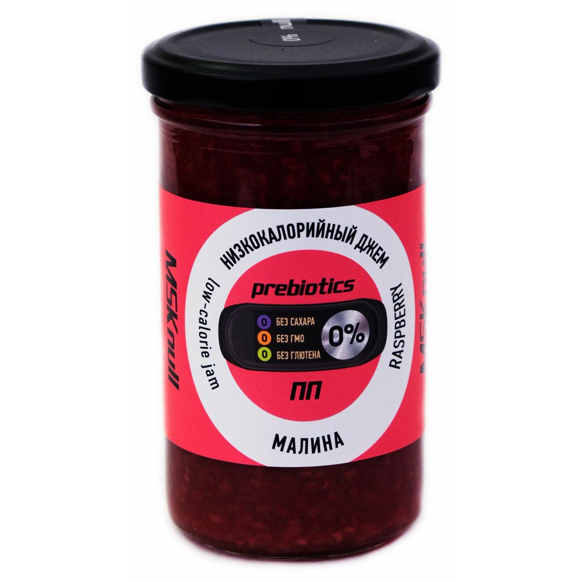 Низкокалорийный Zero джем с пребиотиком Малина, без сахара, 260 г., МSK null