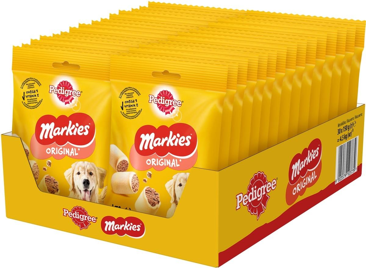 Лакомство Pedigree Markies, для собак, с мозговой косточкой, 30 шт по 150 г