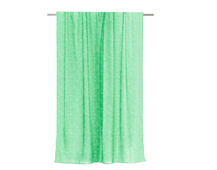 Тюль на ленте для кухни 140x180 см цвет зелёный-20981