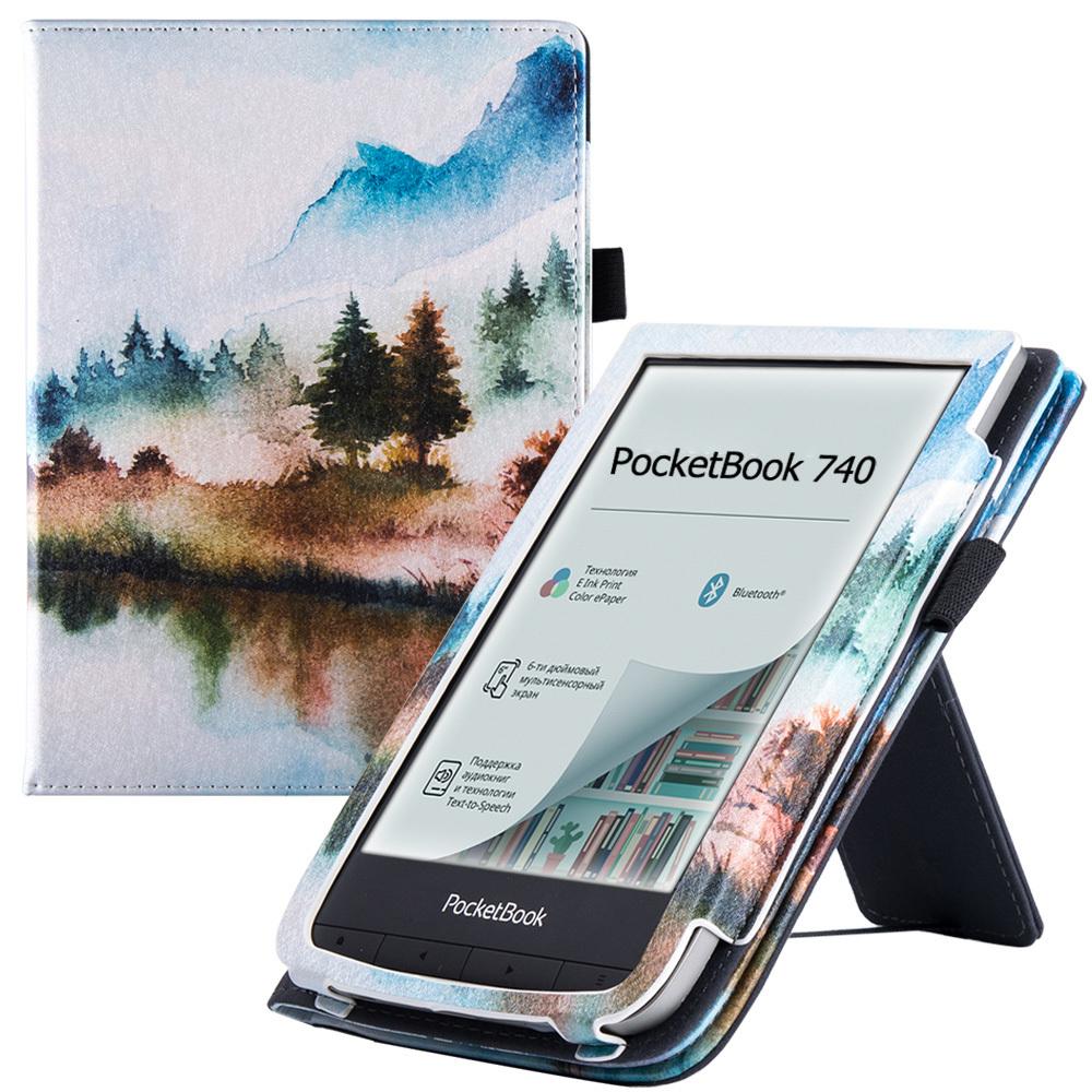 """чехол-обложка goodchoice lux для pocketbook 740 / 740 pro / 740 color, """"пейзаж"""""""