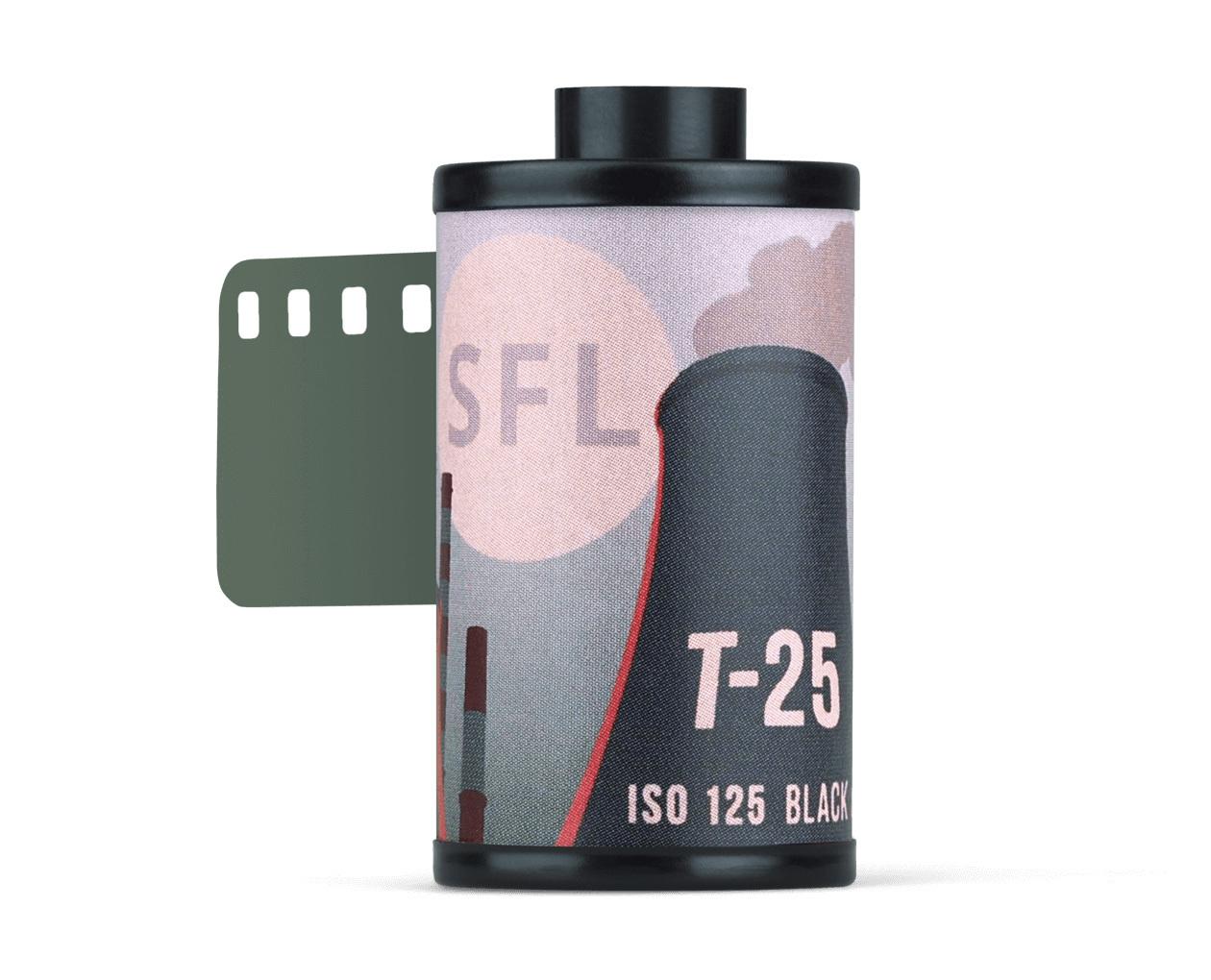 фотопленка sfl тасма t-25 (135/36) ч/б негативная в кассете