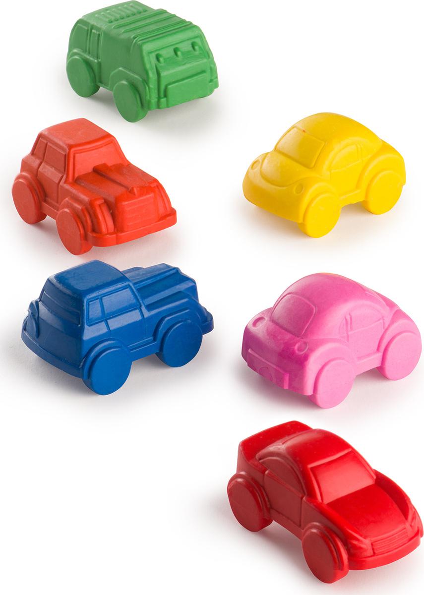36000, Набор восковых мелков Happy baby, в форме машинки, 6 цветов  #1