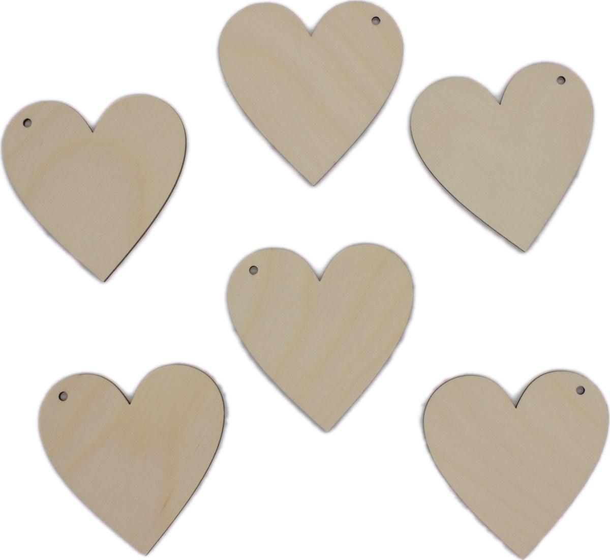Заготовка (6шт) RiForm сердце 7см с отверстием. #1