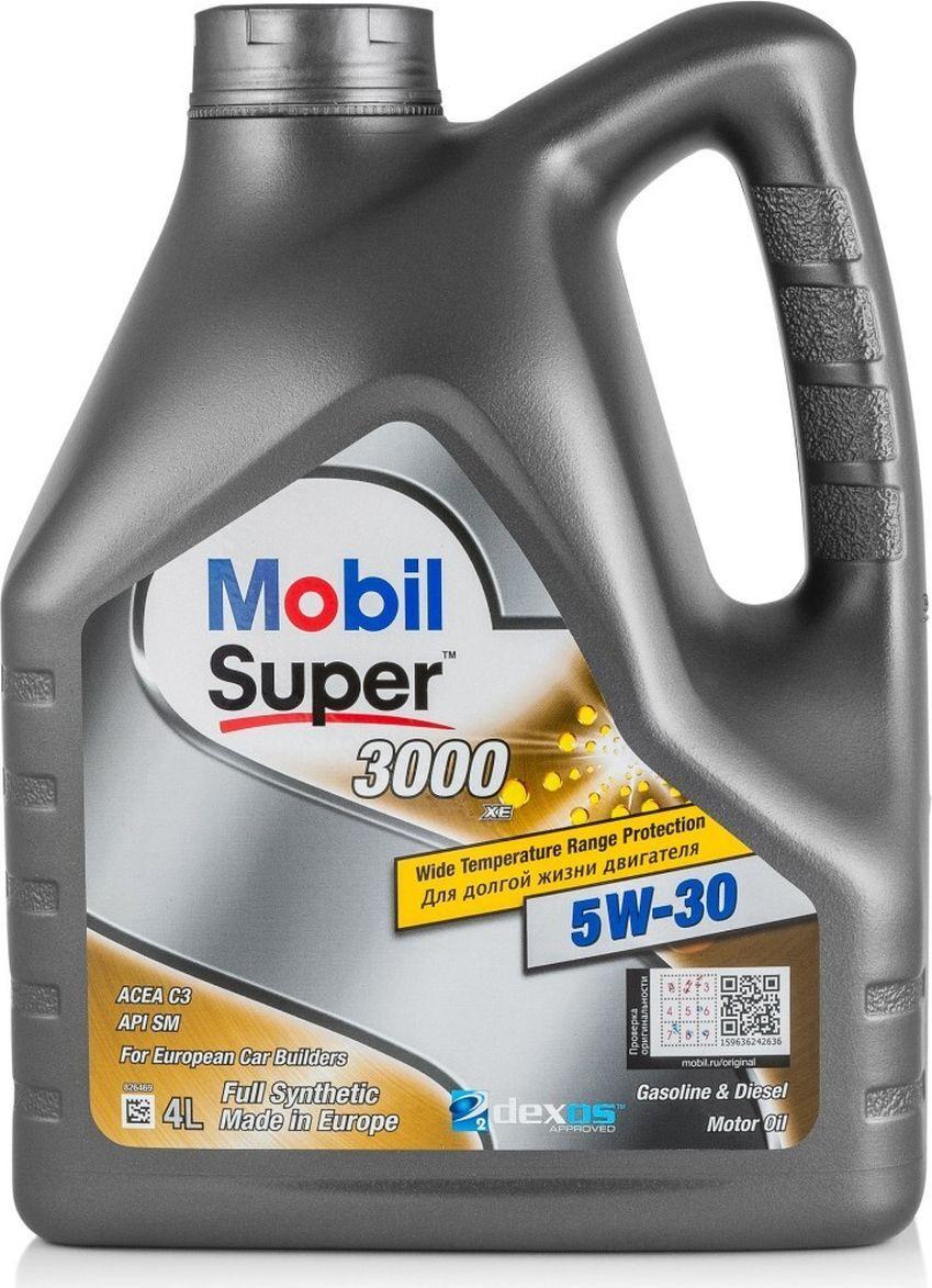 Моторное масло MOBIL SUPER 3000 XE 5W-30 Синтетическое 4 л #1