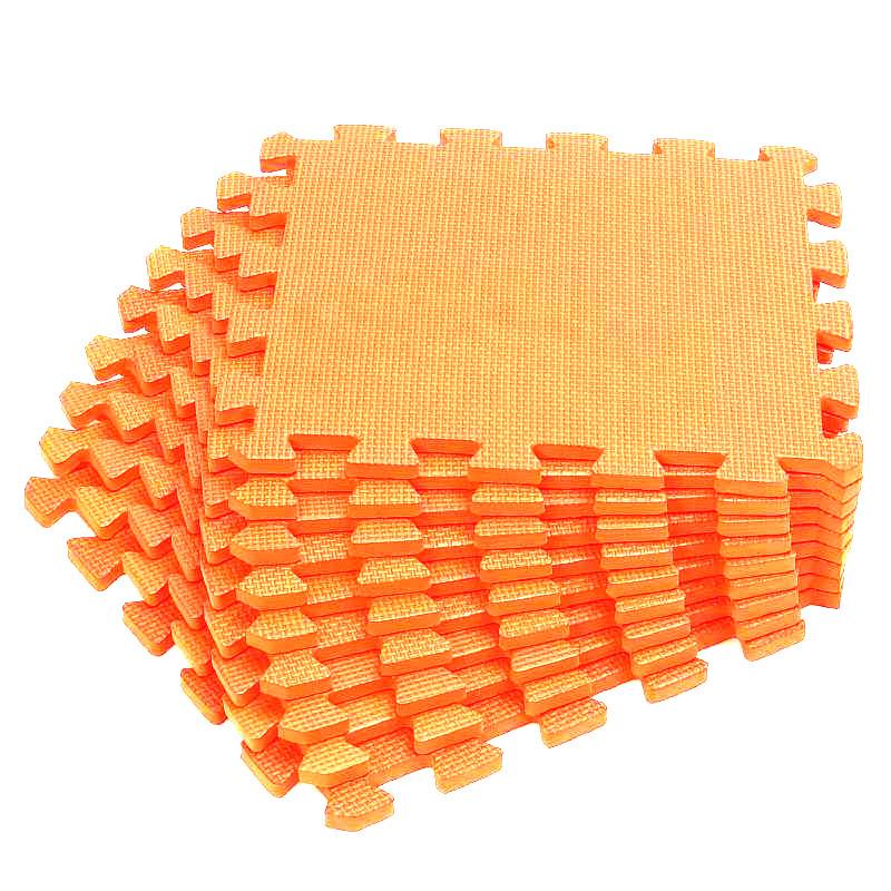 """Детский коврик-пазл Meitoku """"Оранжевый"""" 30x30x1 см (9 шт.) с окантовкой/игровой/развивающий/для ползания/водонепроницаемый/на #1"""