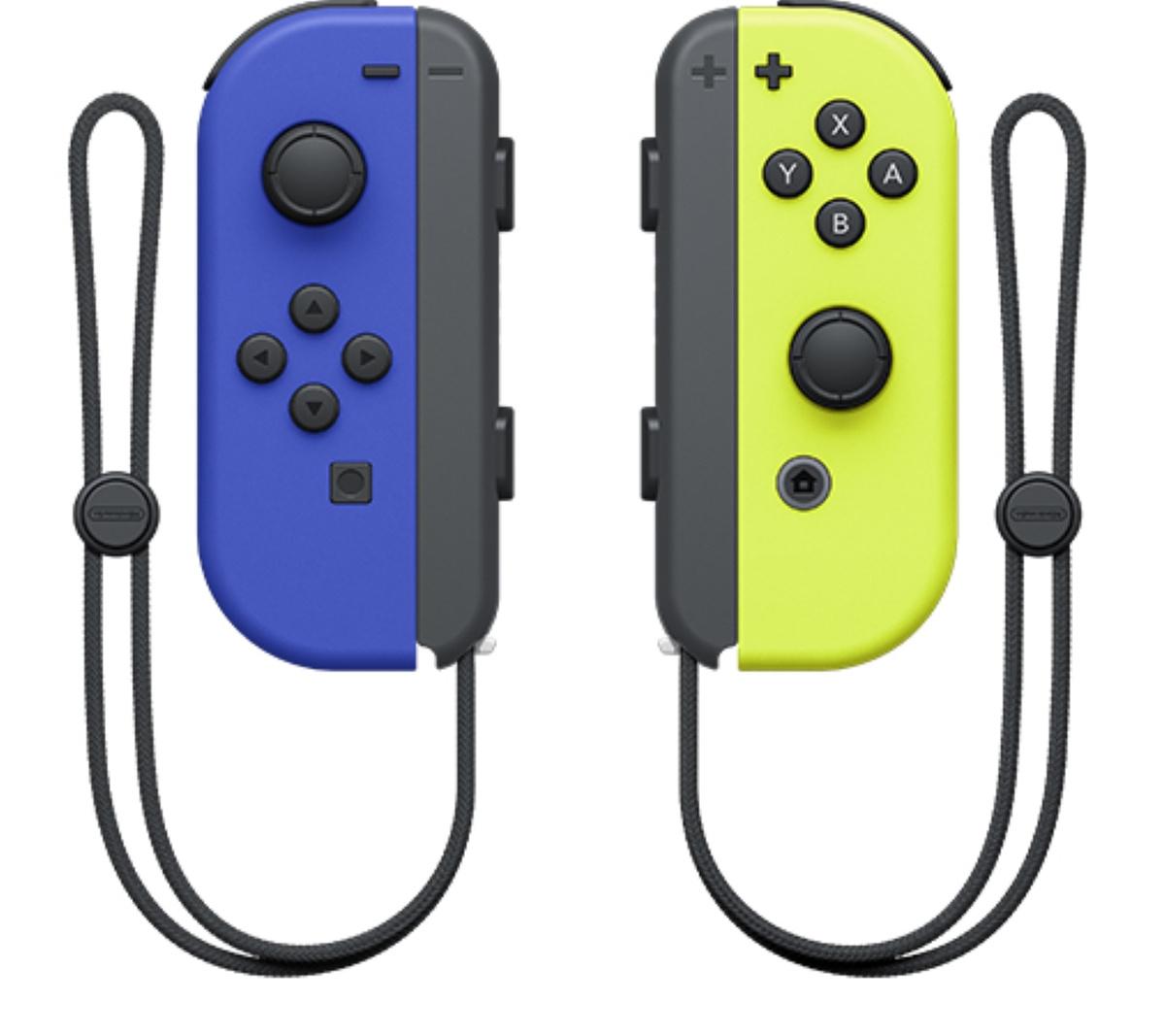 Контроллер Nintendo Joy-Con, синий, желтый #1