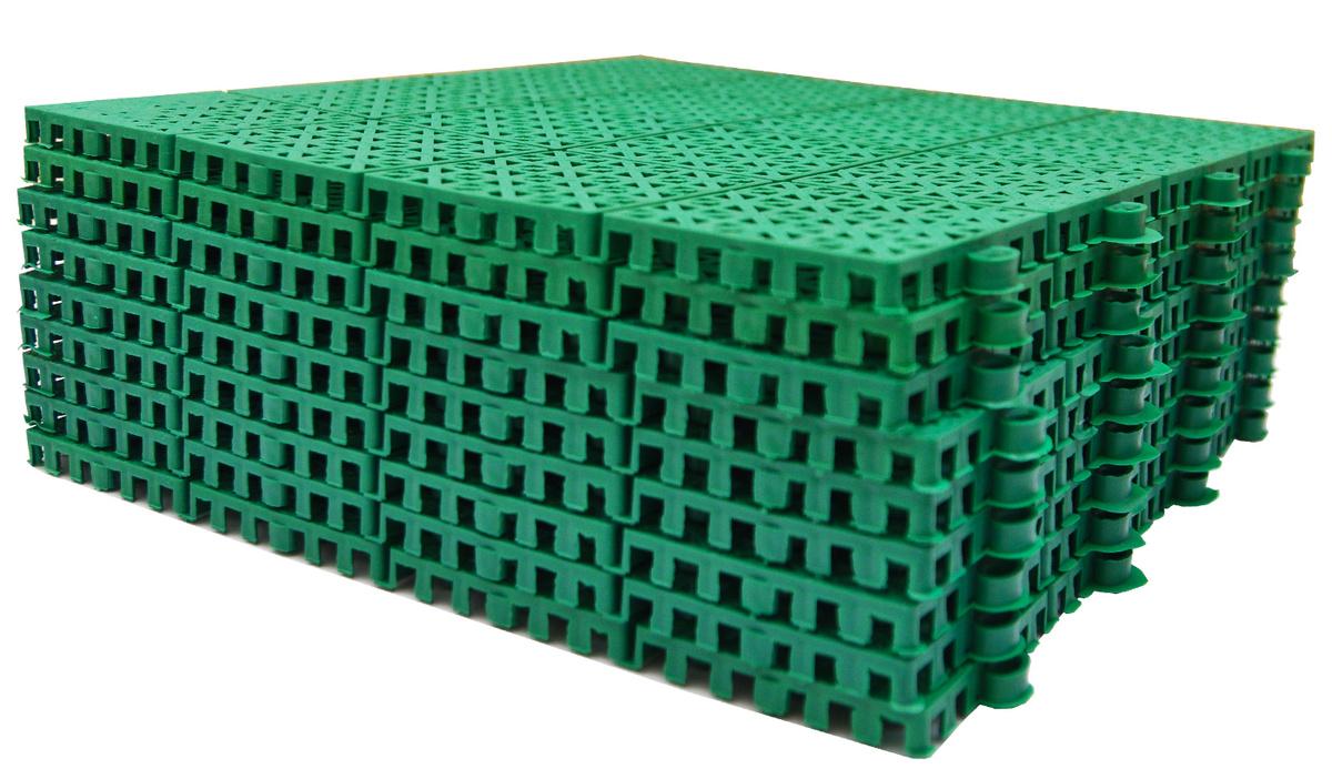 """Универсальное пластиковое модульное покрытие """"Трикап"""", один модуль-30 см.х30 см. Продается комплектом #1"""