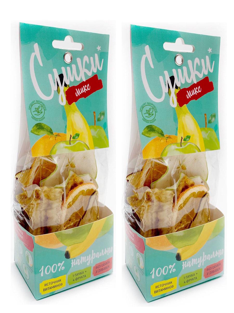 Фруктовые чипсы Сушки Микс (яблоко,апельсин,груша,банан)/ 2 шт /сухофрукты/снеки/здоровый перекус/ полезная #1