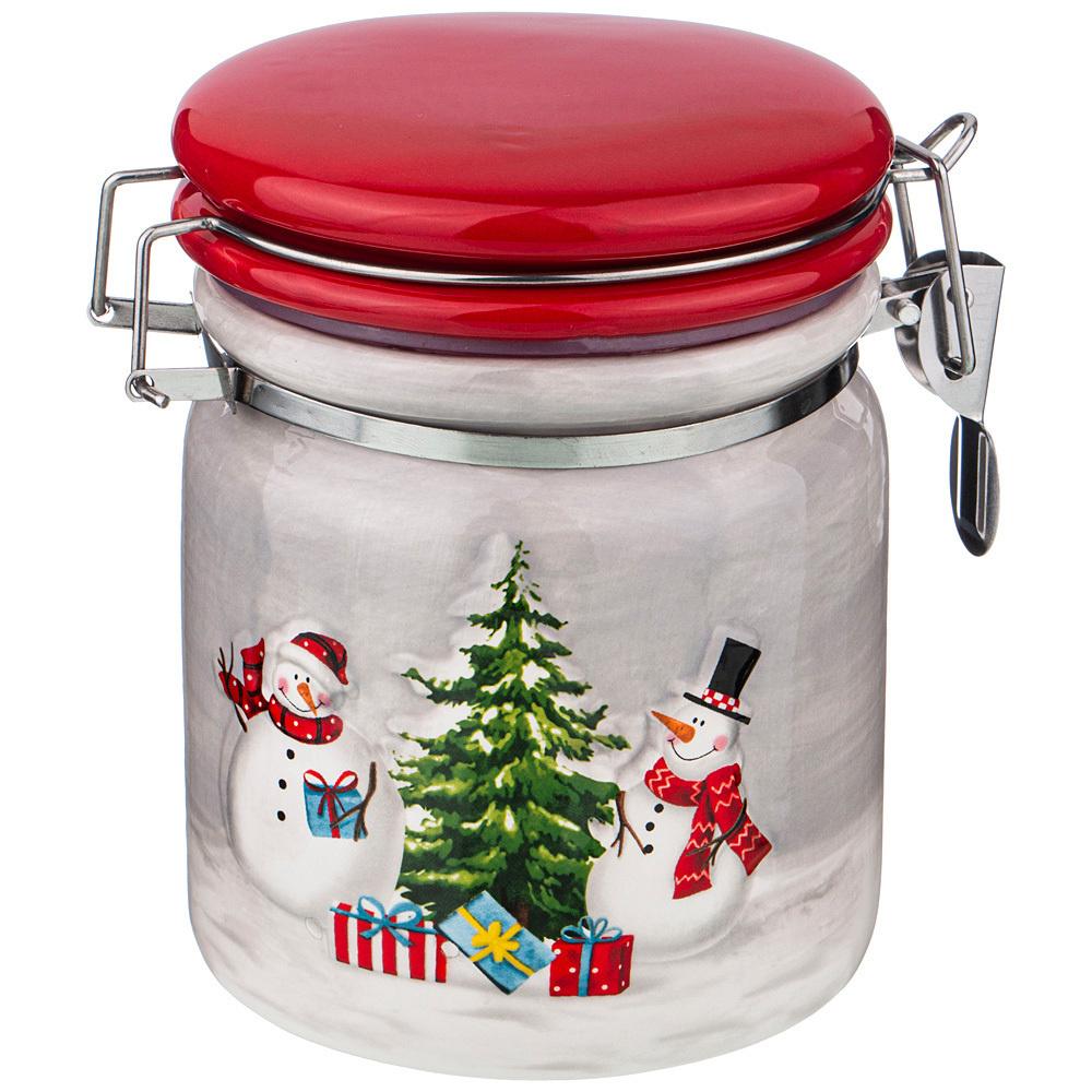 """Банка для сыпучих продуктов Lefard """"веселые снеговики"""", 750 мл, 1 предм.  #1"""
