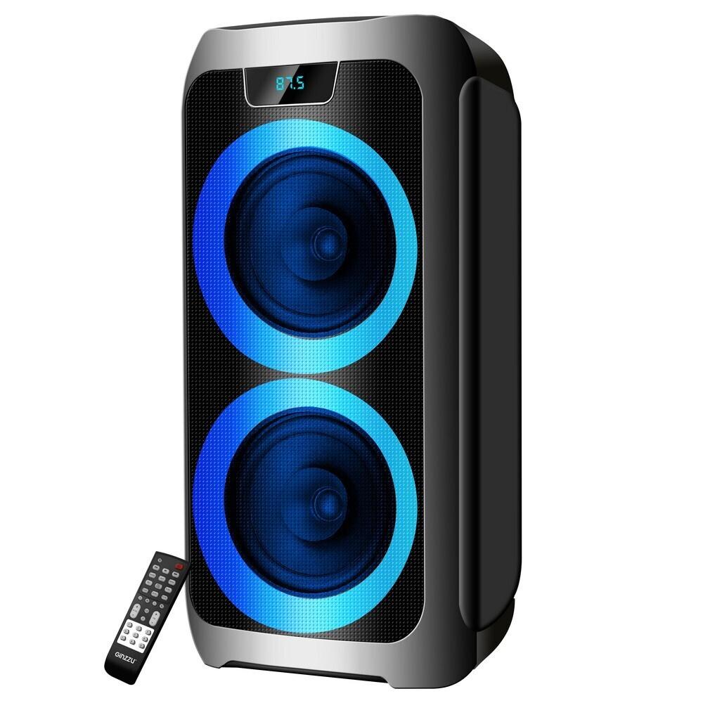 Акустическая система MIDI Ginzzu GM-212 с Bluetooth, 72Вт, LED-дисплей, TWS, USB-flash, microSD, FM-радио, #1