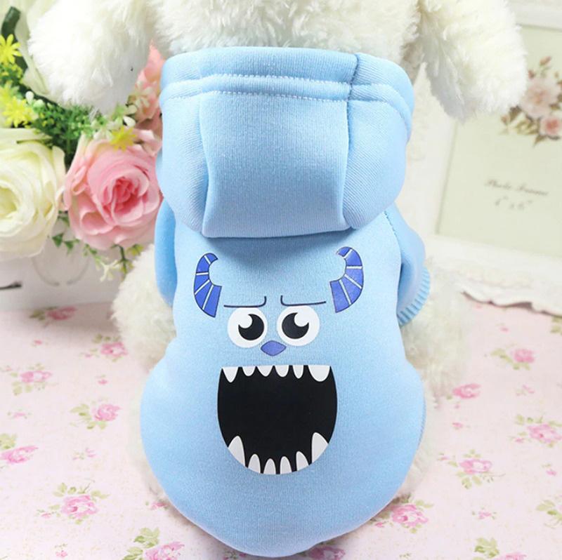 Толстовка с капюшоном для собак и кошек, Цвет: Голубой, Размер: M  #1