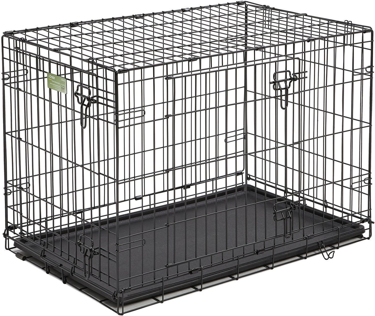 """Клетка для собак Midwest """"iCrate"""", 2 двери, цвет: черный, 91 х 58 х 64 см  #1"""