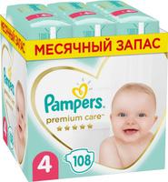Подгузники Pampers Premium Care, 9-14 кг, размер 4, 108 шт. Наши лучшие предложения