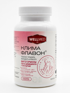 Климафлавон, фитогормоны для продления женской молодости, 60 штук. Вместе дешевле!