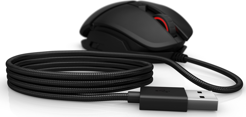 Мышь HP Omen Reactor Mouse 2VP02AA оптическая USB, цвет черный цена и фото
