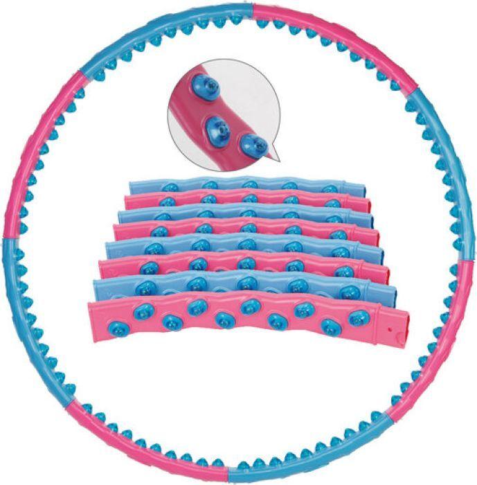 Обруч массажный Iron People IR97358, голубой, розовый