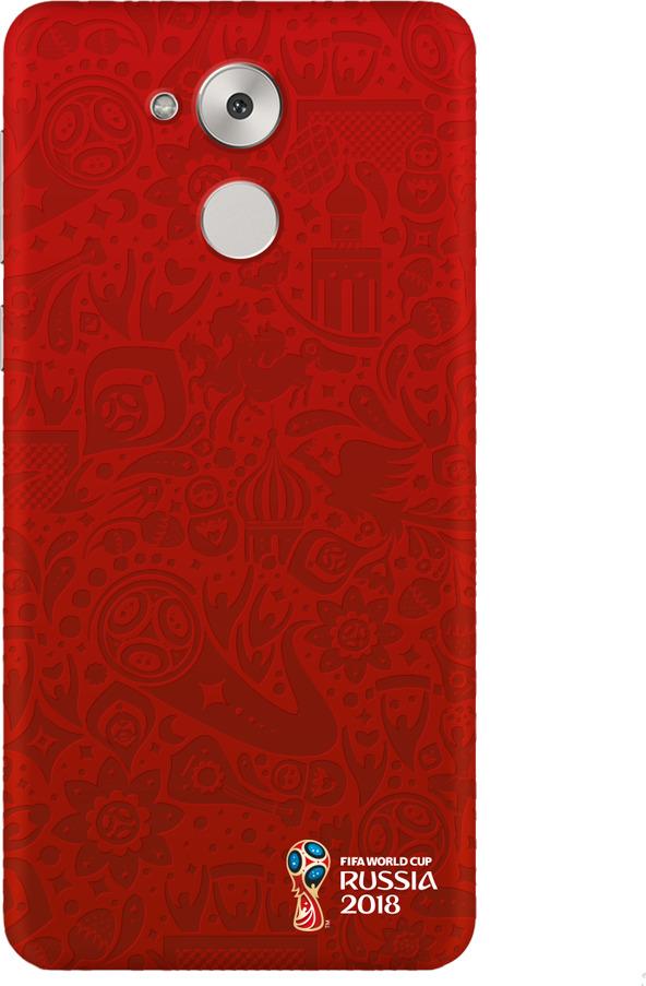 Чехол PC для Huawei Honor 6C Pro, FIFA Official Pattern red, Deppa чехол fifa 2018 official pattern red для iphone 5 5s se