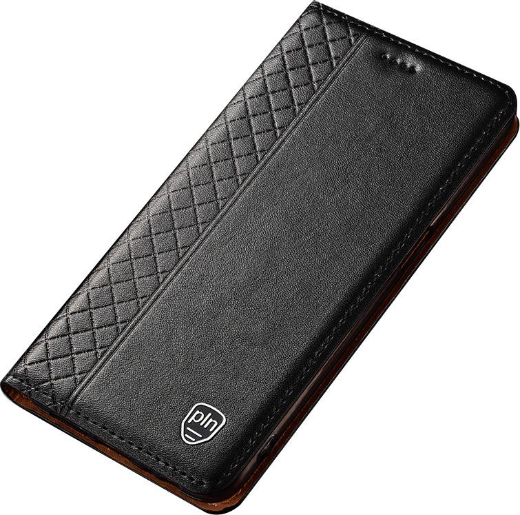 Чехол-книжка MyPads Premium для Honor 9X (STK-LX1)/ Huawei Honor 9X Premium / Honor 9X (Russia) из качественной импортной натуральной кожи с элегантной стеганой прошивкой премиум-класса и магнитной крышкой черный